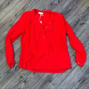 """Lucky Brand"" Red Button Down Blouse NWT"